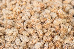 Detail of peanut in sesame dragees on a fair stall Stock Photography