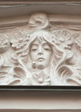 Detail of pediment building, decorated in Art Nouveau style Royalty Free Stock Images