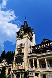 Detail of Peles Castle in Sinaia - Romania Stock Photo