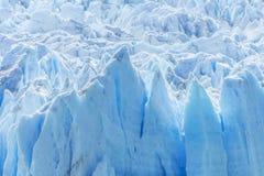 Detail of Perito Moreno Glacier in Argentina. Detail of a old turquoise ice of Perito Moreno glacier. Los Glaciares national park, Argentina Royalty Free Stock Image