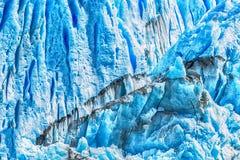 Detail of Perito Moreno Glacier in Argentina. Detail of a old turquoise ice of Perito Moreno glacier. Los Glaciares national park, Argentina Royalty Free Stock Photos