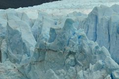 Perito Moreno Detail Eagle Shape. Detail from the Perito Moreno Glacier, with a strange eagle shape in the top Stock Photos