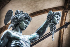 Detail of Perseo holding Medusa head Royalty Free Stock Photos