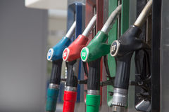 Detail of a petrol pump Royalty Free Stock Photos