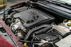Detail photo of a car engine Stock Photo