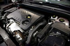Detail photo of a car engine Royalty Free Stock Images