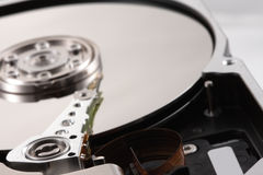 Detail photo of a hard drive Royalty Free Stock Photography