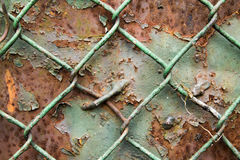 Detail photo of rust wire and plate Stock Images