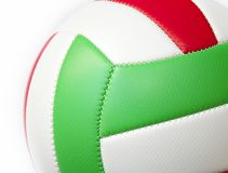 Volleyball with italian colors. A detail photo of a volleybal with the colors of the italian flag Royalty Free Stock Photo