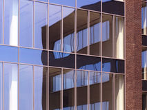 Detail photography of modern building reflection Stock Image
