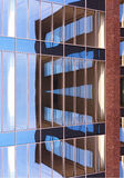 Detail photography of modern building reflection Royalty Free Stock Photography