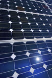 Detail of a photovoltaic panel. For electricity production Royalty Free Stock Photos