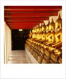 Phra Rabiang roofed gallery . stock photography