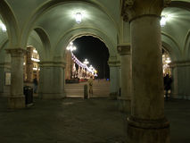 Detail of Piazza dell'Unita' d'Italia Royalty Free Stock Images