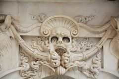 Detail, Piazza della Signoria, Florence. Detail of the decoration in Piazza della Signoria, in Florence, Italy, Europe royalty free stock photo