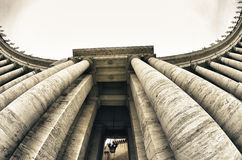 Detail of Piazza San Pietro Architecture in Rome Royalty Free Stock Photos