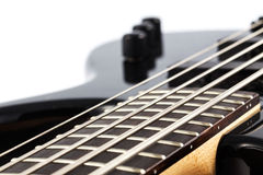 Detail picture of an electric bass guitar Royalty Free Stock Photos