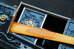 Detail picture from Venetian gondola Stock Photography