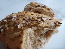 Detail of piece of fresh bread Royalty Free Stock Photography
