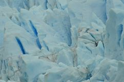 Perito Moreno Glaciar Ice Texture. Detail of a piece of Ice from the Patagonian Glacier called Perito Moreno Stock Images