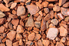 Detail of pile of brick peaces Stock Images