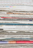 Detail of a pile of newspaper Royalty Free Stock Images
