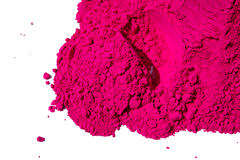Detail of pink color for holi. Pink color  sale in india on the occasion of holi (holli)festival Stock Photography