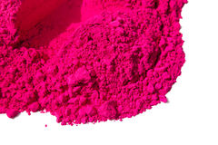 Detail of pink color for holi Stock Images