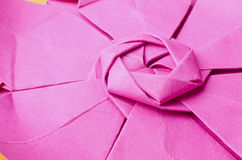 Detail of pink paper flower Royalty Free Stock Photos