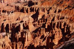 Detail, pinnacles and hoodoos of red Navajo sandstone Stock Photo