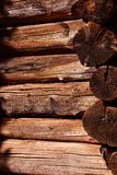 Detail of pioneer log cabin Stock Image