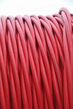 Detail of pipes and electric wires between coils. Red detail detailed pipes and electric wires between coils royalty free stock images