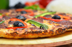 Detail of a pizza Royalty Free Stock Photo