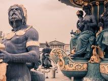 Detail of the Place de la Concorde fountain, Paris. royalty free stock photos