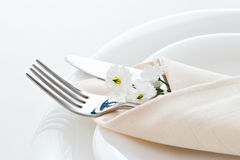 Detail of place setting Royalty Free Stock Image
