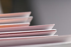 Detail of plain folders. Stock Photo