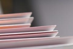 Detail of plain folders. Stock Photo