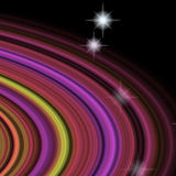 Detail of planetary rings of fantasy planet in space Stock Photo