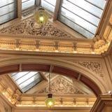 Melbourne – The Block Arcade. Detail of the plaster work on the ceiling of The Block Arcade, in Melbourne, Victoria, Australia Royalty Free Stock Photos