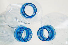 Detail of plastic bottles Royalty Free Stock Photography