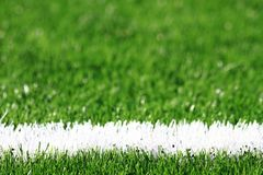Detail of plastic soccer grass Royalty Free Stock Photo