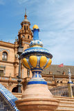 Detail of Plaza De Espana in Seville Stock Photos