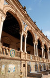 Detail of Plaza De Espana in Seville Royalty Free Stock Photos