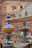 Detail of the Plaza de Espana, in Seville Stock Photos