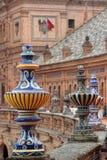 Detail of the Plaza de Espana, in Seville Stock Photos