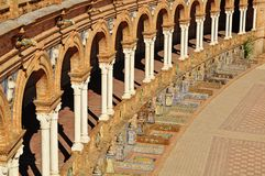 A detail In The Plaza Espana Seville Southern Spai Royalty Free Stock Image