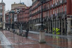Detail of the Plaza Mayor of Valladolid. Spain Royalty Free Stock Photography