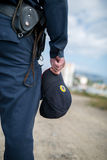 Detail of a police officer. Royalty Free Stock Photography