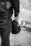 Detail of a police officer. Stock Photography