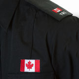 Detail of a Police Student Uniform Royalty Free Stock Photography